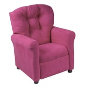 CrewFurniture Juvenile Kids Recliner; Racy Pink