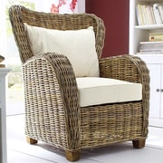 NovaSolo Wickerworks Queen Chair with Cushions