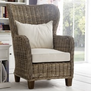 NovaSolo Wickerworks King Chair with Cushions