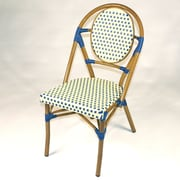 Infinita Corporation French Bistro Armless Stacking Chair (Set of 6); Blue