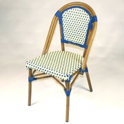 Infinita Corporation French Bistro Armless Saint Tropez Stacking Chair (Set of 6); Blue