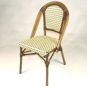 Infinita Corporation French Bistro Armless Saint Tropez Stacking Chair (Set of 6); Brown