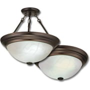 Lithonia Lighting Sheffield Medium 2 Light Semi Flush Mount