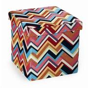 Seville Classics Foldable Storage Cube Ottoman