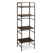 Seville Classics 4-Tier Square Resin Slatted Folding 45'' H Shelving Unit
