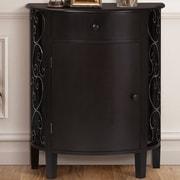 Gallerie Decor Sutton 1 Door 1 Drawer Cabinet; Espresso