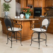 Home Loft Concepts Bleeker Iron Swivel Arm Chair; Fabric