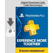PlayStation Plus 3 Month Membership, Electronic Code, [Download]