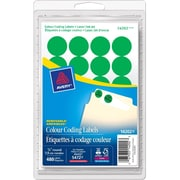 Avery Colour Coding Labels, Circle, Laser/Inkjet, Green, 480/Pack (AVE14202)