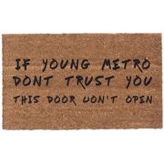 Coco Mats N More Young Metro Don't Trust You Doormat