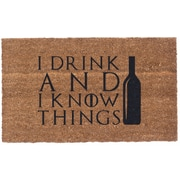 Coco Mats N More I Drink and I Know Things Doormat