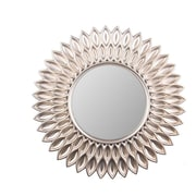 Wee's Beyond Sunflower Decorative Wall Mirror; Champagne