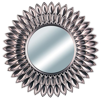 Wee's Beyond Sunflower Decorative Wall Mirror; Pewter