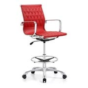 Woodstock Marketing Annie Mid-Back Drafting Chair; Red