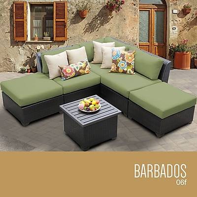 TK Classics Barbados 6 Piece Deep Seating Group w/ Cushion; Cilantro WYF078279296300