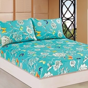 Tache Home Fashion Wonderland 100pct Cotton Fitted Sheet Set; Twin