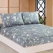 Tache Home Fashion Cherry Blossom 100pct Cotton Fitted Sheet Set; Twin