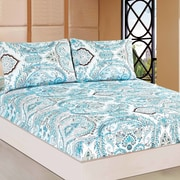 Tache Home Fashion Frozen Forest 100pct Cotton Fitted Sheet Set; Twin