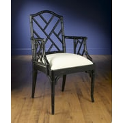 AA Importing Chinese Chippendale Arm Chair; Black