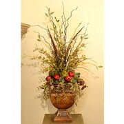 Floral Home Decor Willow, Pomegranate and Artichoke Faux Flower Arrangement