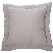 Brunelli Unik Cotton Throw Pillow; Light Gray