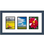 Frames By Mail 3 Rectangle Opening Collage Picture Frame; Blue