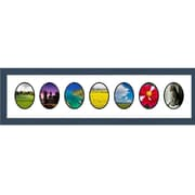 Frames By Mail 7 Oval Opening Collage Picture Frame; Blue