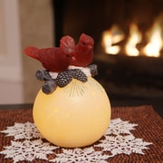 Flipo Winter Woodlands Wax Flameless Candle; Red