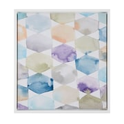 Intelligent Design 'Multicolor Geometrics' by Megan Swartz Framed Painting Print on Canvas