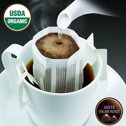 FUERTE®, Pronto®, Gusto™, Coffee Drip Bag, Organic Arabica Coffee, Italian Roast, 18/Pack, (PGI-81)