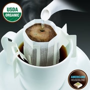 FUERTE®, Pronto®, Americano™, Coffee Drip Bag, Organic Arabica Coffee, House Blend, 18/Pack, (PAH-92)