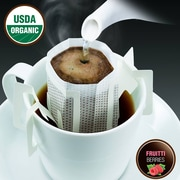 FUERTE®, Pronto®, Fruitti™, Coffee Drip Bag, Organic Arabica Coffee, Natural Chocolate Berries, 18/Pack, (PFB-96)