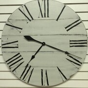 Essex Hand Crafted Wood Products Hornchurch Oversized 30'' Wood Wall Hanging Clock