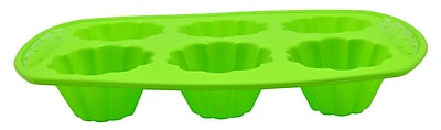 Prime Cook Silicone Cake Pan (Set of 6); Green WYF078279396390