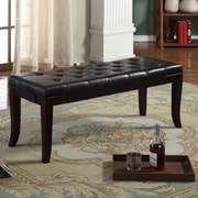 Roundhill Furniture Linion Bedroom Bench; Espresso