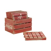 Crates & Pallet 7 Piece Crate w/ Pallets Set; Red