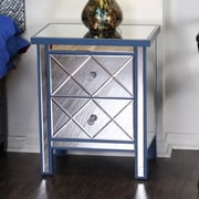 Heather Ann Wood Cabinet w/ Mirror; Blue