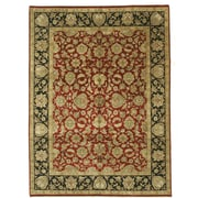 Eastern Rugs Jaipur Hand-Knotted Red/Black Area Rug