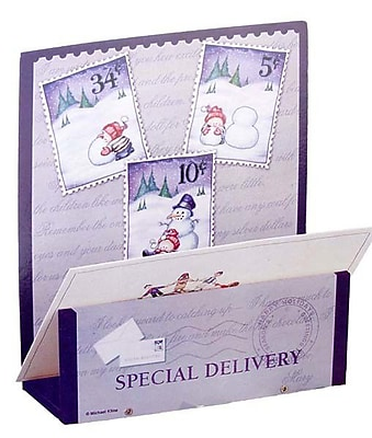 Northlight Wooden Special Delivery Snowman Christmas Card