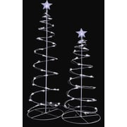 Sienna Led Lighted Spiral Christmas Trees Yard Decoration (Set of 2)