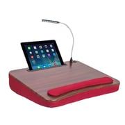 Sofia + Sam Lapdesk with USB Light and Tablet Slot Burgundy (5024)
