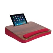 Sofia + Sam All-Purpose Memory Foam Lapdesk with Tablet Slot Burgundy (5020)