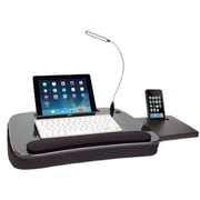 Sofia + Sam Multi-Tasking Lapdesk with USB Light and Tablet Slot Black (5014)