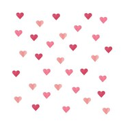 Eco Wall Decals 32 Piece Heart Wall Decal Set