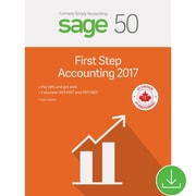 Sage 50 First Step Accounting 2017, Bilingual [Download]