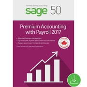 Sage 50 Premium Accounting with Payroll 2017, Bilingual [Download]