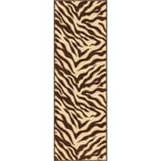 Well Woven Kings Court Brown Zebra Animal Print Rug; Runner 2' x 7'
