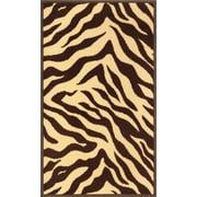Well Woven Kings Court Brown Zebra Animal Print Rug; 3'3'' x 4'7''