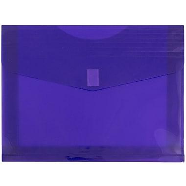 JAM Paper – Enveloppes en plastique/poly à fermeture adhésive, 9 1/2 x 13 1/8 po, violet, paq./12