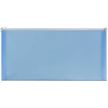 JAM Paper® #10 Plastic Envelopes with Zip Closure, 5 x 10, Blue Poly, 1008/Pack (921Z1BUC)